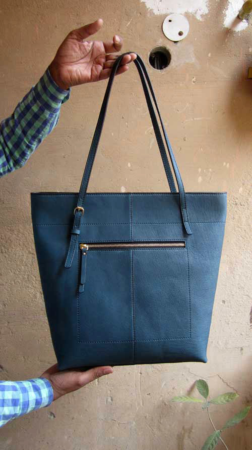 Ocean Emma, Chiaroscuro, India, Pure Leather, Handbag, Bag, Workshop Made, Leather, Bags, Handmade, Artisanal, Leather Work, Leather Workshop, Fashion, Women's Fashion, Women's Accessories, Accessories, Handcrafted, Made In India, Chiaroscuro Bags - 1