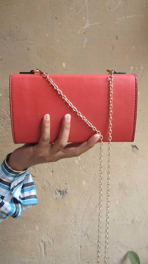 Coral Ellie, Chiaroscuro, India, Pure Leather, Handbag, Bag, Workshop Made, Leather, Bags, Handmade, Artisanal, Leather Work, Leather Workshop, Fashion, Women's Fashion, Women's Accessories, Accessories, Handcrafted, Made In India, Chiaroscuro Bags - 4