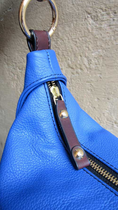 Cobalt Caro, Chiaroscuro, India, Pure Leather, Handbag, Bag, Workshop Made, Leather, Bags, Handmade, Artisanal, Leather Work, Leather Workshop, Fashion, Women's Fashion, Women's Accessories, Accessories, Handcrafted, Made In India, Chiaroscuro Bags - 8