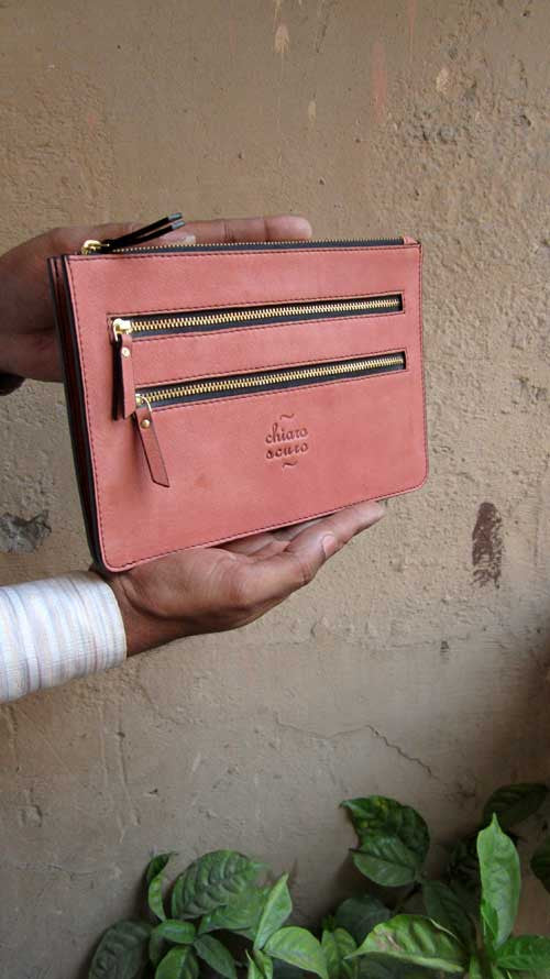 Dusty Rose Lizzie, Chiaroscuro, India, Pure Leather, Handbag, Bag, Workshop Made, Leather, Bags, Handmade, Artisanal, Leather Work, Leather Workshop, Fashion, Women's Fashion, Women's Accessories, Accessories, Handcrafted, Made In India, Chiaroscuro Bags - 5