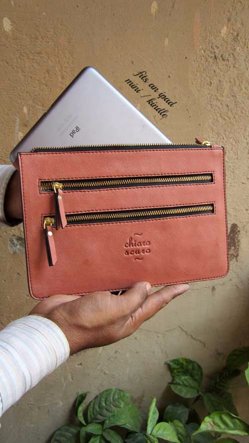 Dusty Rose Lizzie, Chiaroscuro, India, Pure Leather, Handbag, Bag, Workshop Made, Leather, Bags, Handmade, Artisanal, Leather Work, Leather Workshop, Fashion, Women's Fashion, Women's Accessories, Accessories, Handcrafted, Made In India, Chiaroscuro Bags - 1