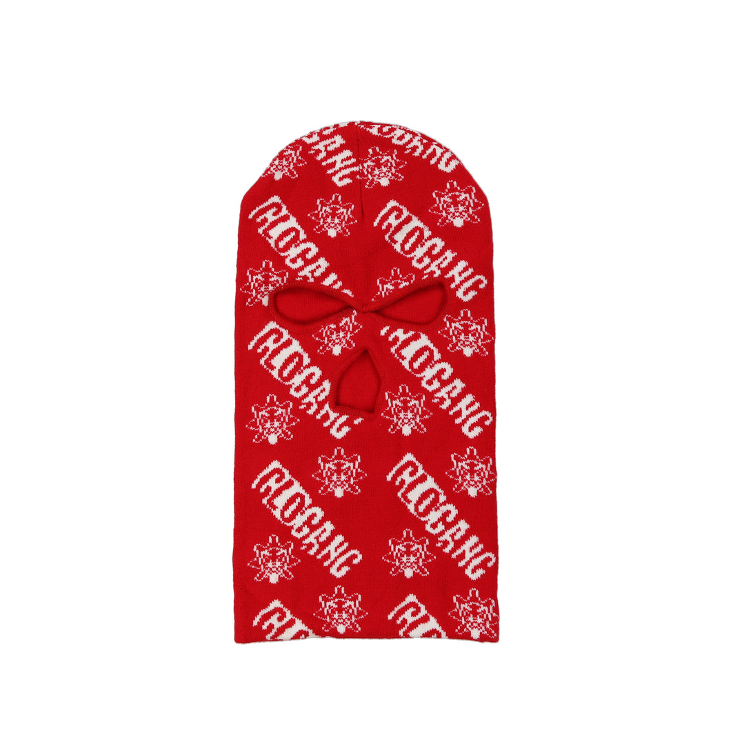 Glo Gang Logo Ski Mask (Red)
