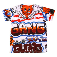 Glo Gang Airbrush Sublimated Tee (White)