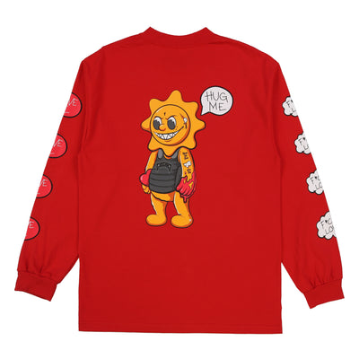 Hug Me Long Sleeve Tee (Red)