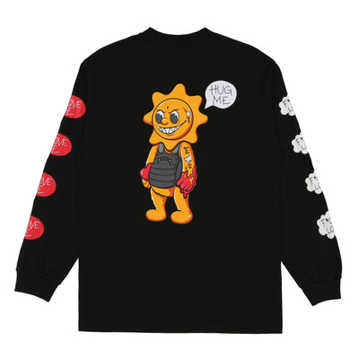 Hug Me Long Sleeve Tee (Black)