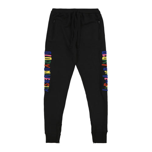 Glory University Chenille Primary Patch Sweatpants (Black)