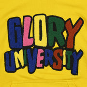 Glory University Chenille Primary Patch Hoodie (Yellow)