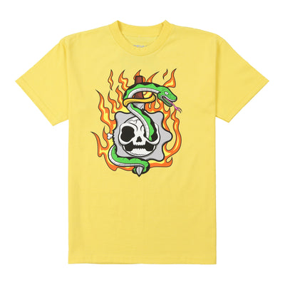 Flaming Skull Tee (Yellow)