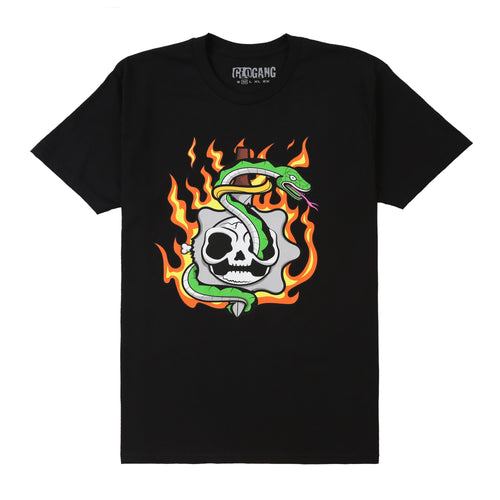 Flaming Skull Tee (Black)
