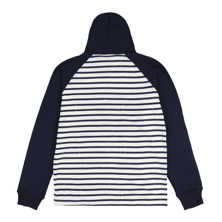 Glory University Chenille Multi Patch Stripe Hoodie (Navy)