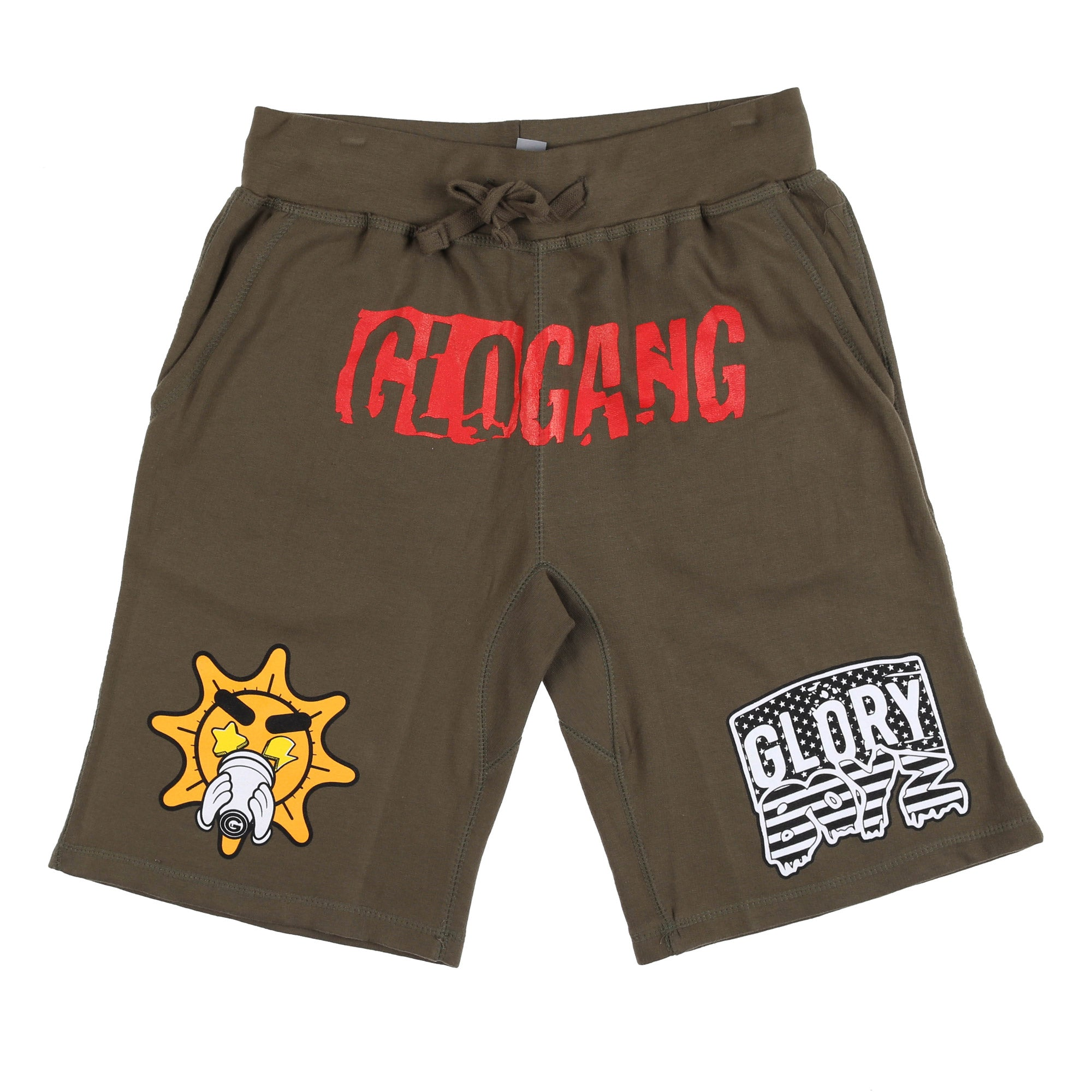 Glo Glory Boyz Shorts (Military Green)
