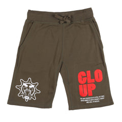 Glo Up Shorts (Military Green)