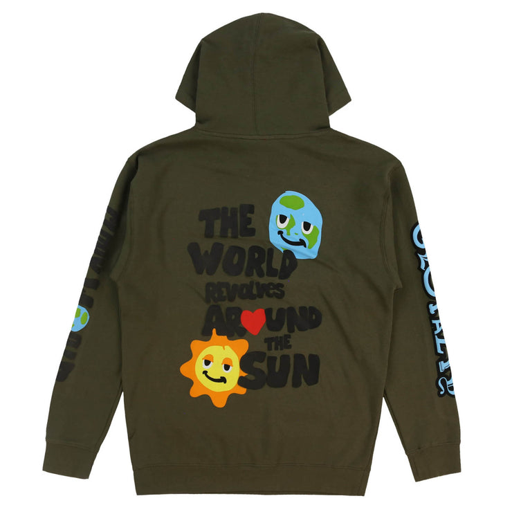 World Revolves Hoodie (Army)
