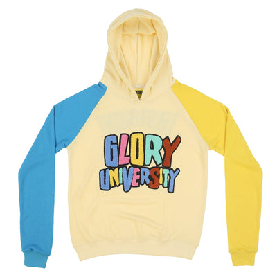 Glory University Chenille Patch Hoodie (Off Yellow)