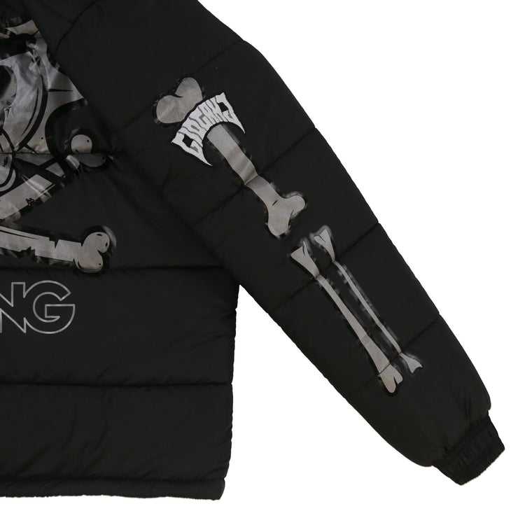 Glo Skeleton Puffer 3M (Black/Black)