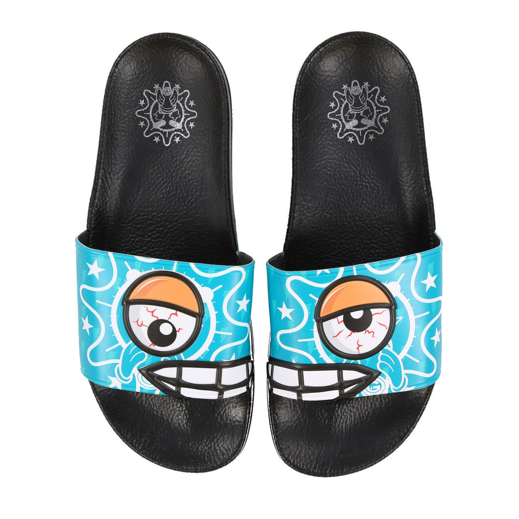 Glo Crazy Eyes Blue Slides