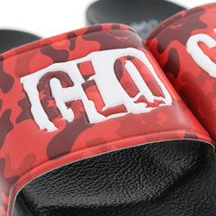 Glo Gang Red Camo Slides