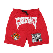 Glo Gang Font Shorts (Red)