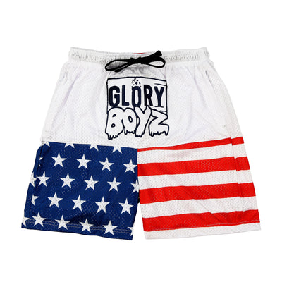 Glory Boyz Flag Shorts (White)