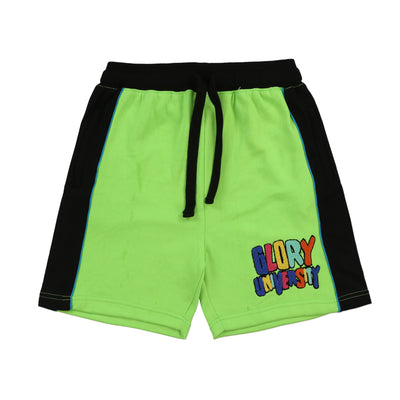 Glory University Chenille Patch Shorts (Neon Green)