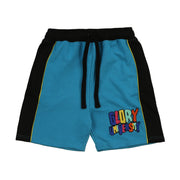 Glory University Chenille Patch Shorts (Aqua)