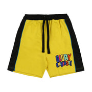Glory University Chenille Patch Shorts (Yellow)