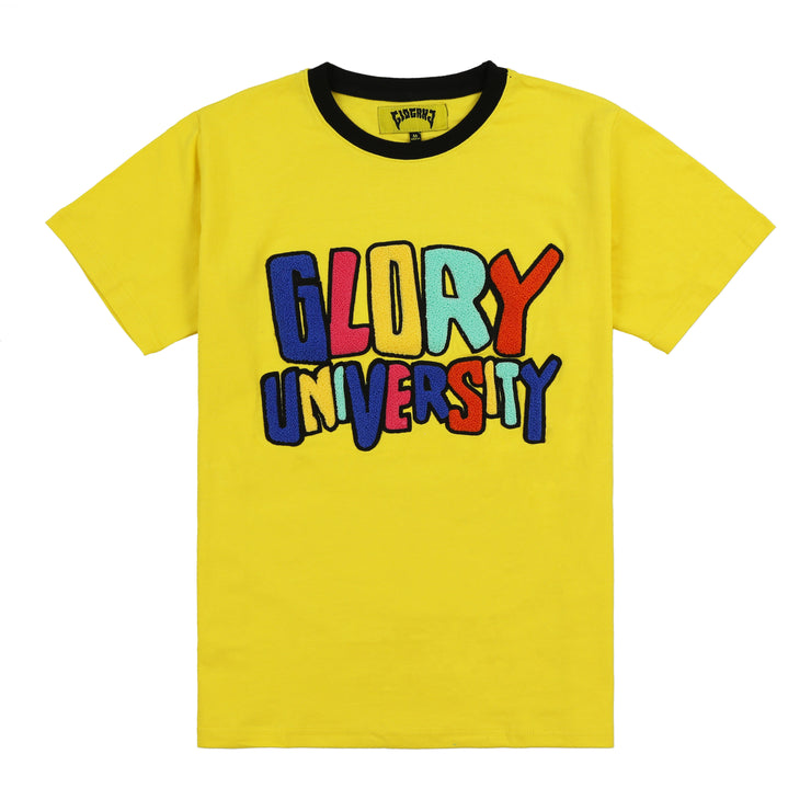 Glory University Chenille Patch Shirt (Yellow)