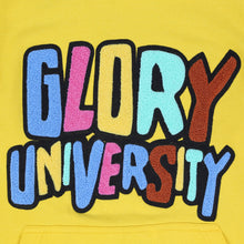 Glory University Chenille Patch Solid Hoodie (Yellow)
