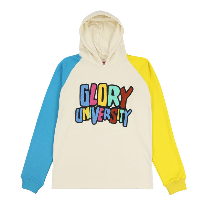 Glory University Chenille Patch Hoodie (Off White)