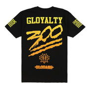 Gloyalty 300 Flag Tee (Black/Yellow)