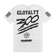 Gloyalty 300 Flag Tee (White/Black)