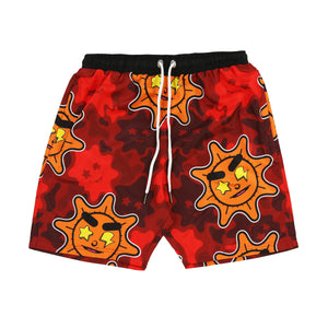 Glo Gang Everyday Shorts (Red Camo)