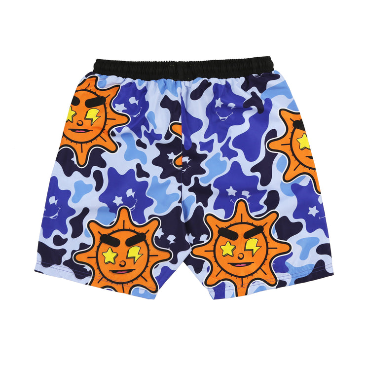 Glo Gang Everyday Shorts (Blue Camo)