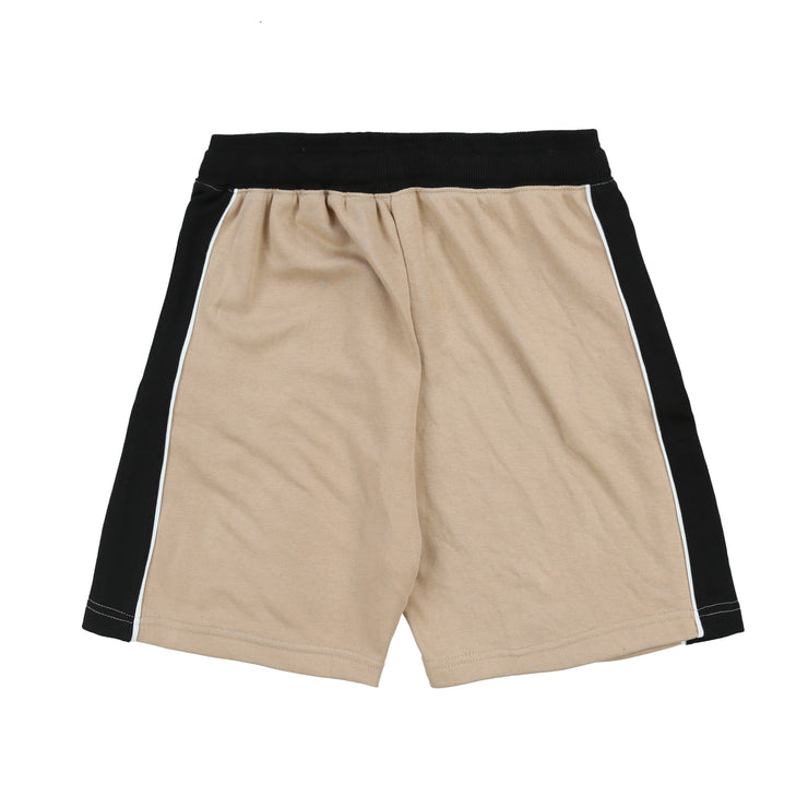 Glory University Chenille Patch Shorts (Beige)