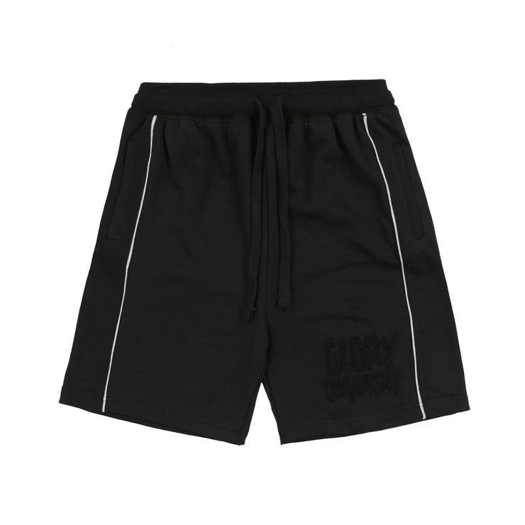 Glory University Chenille Patch Shorts (Black)