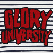 Glory University Chenille Patch Stripe Hoodie (Navy)