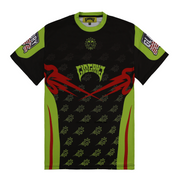 Glo Gang Motocross Short Sleeve (Black/Neon)