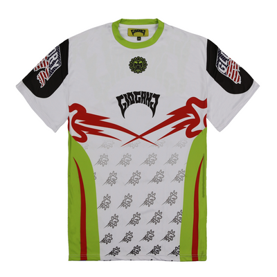 Glo Gang Motocross Short Sleeve (White)