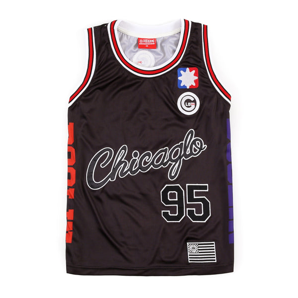 ChicaGlo Basketball Jersey (Black)