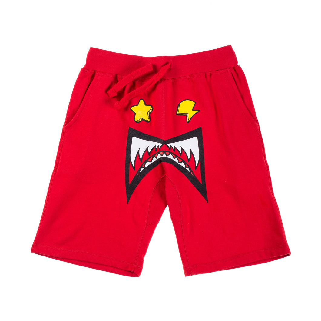 Glo Gang Monster Shorts (Red)