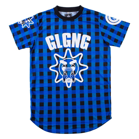 Glo Cup Plaid Tee (Blue/White)