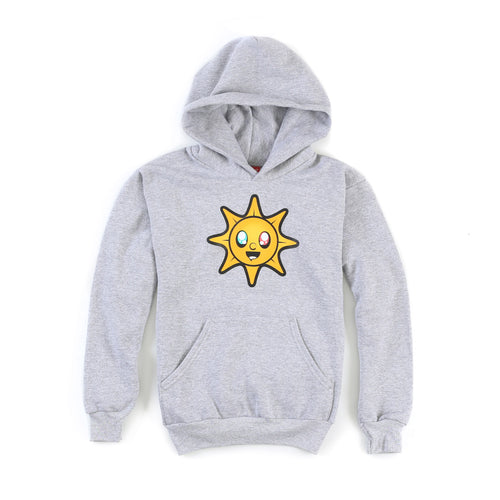 Glo Kids Hoodie (Heather Grey)