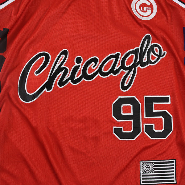 ChicaGlo Basketball Jersey (Red)