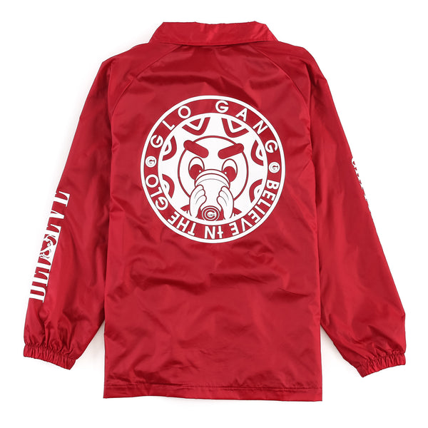 Glo Gang Coach Jacket (Red)