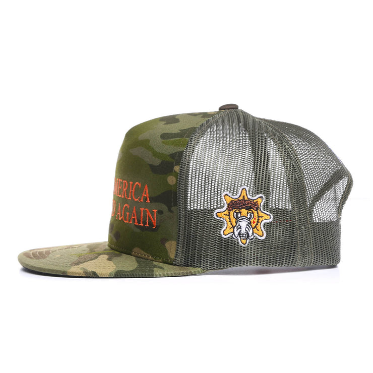 Make America Glo Hard Again Trucker Hat (Camo)