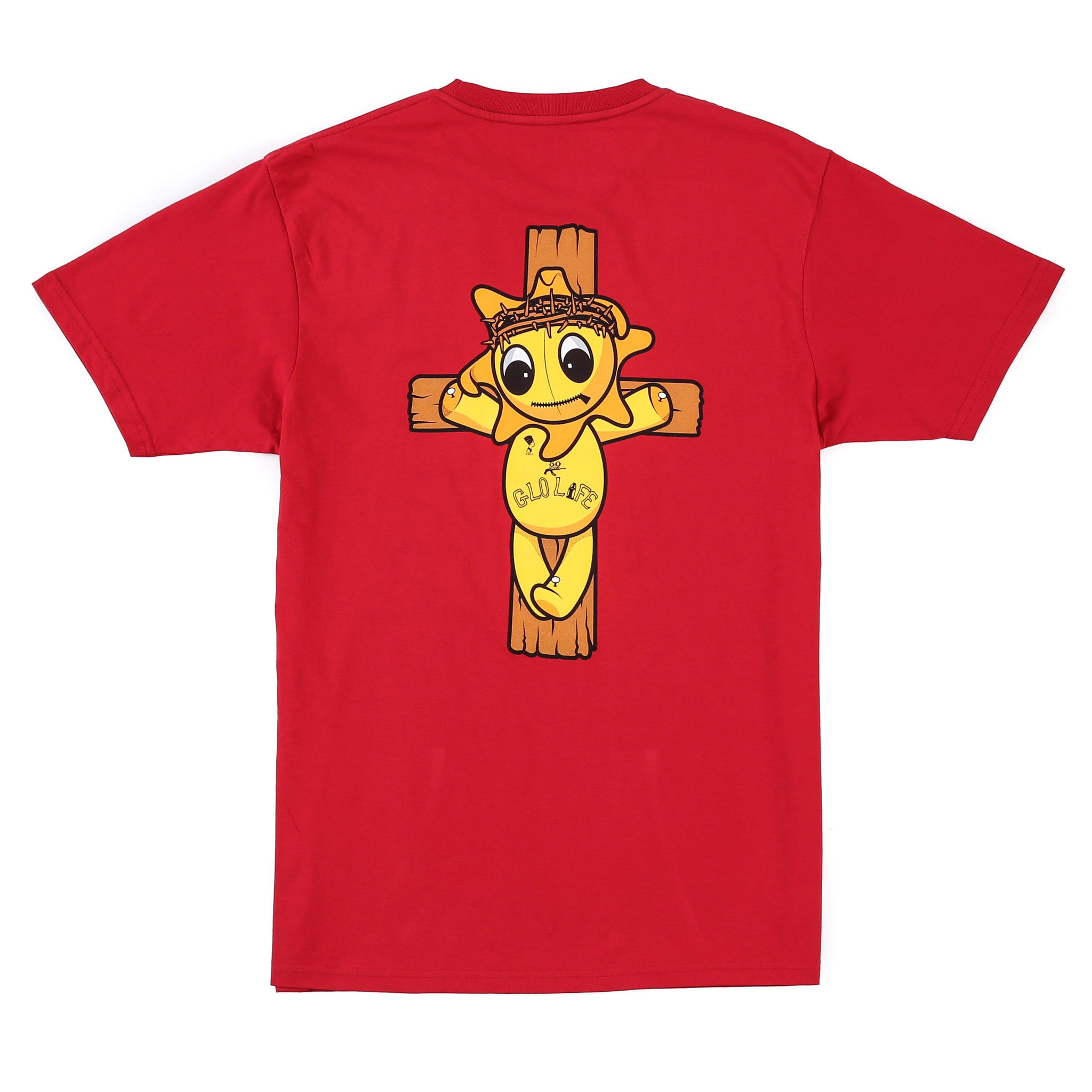 Glo Religion Cross Tee (Red)