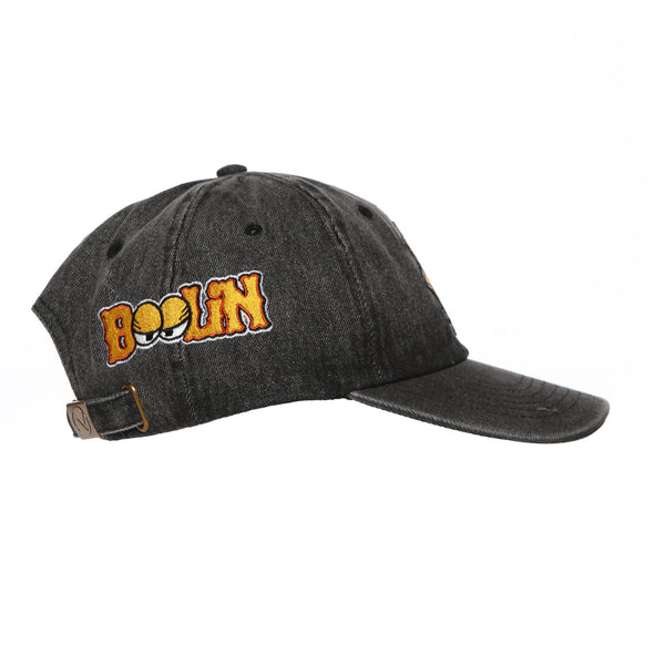 Cappin & Boolin Dad Hat (Black Denim)