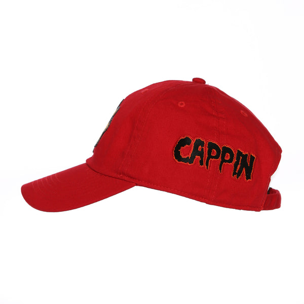 Cappin & Boolin Dad Hat (Red)