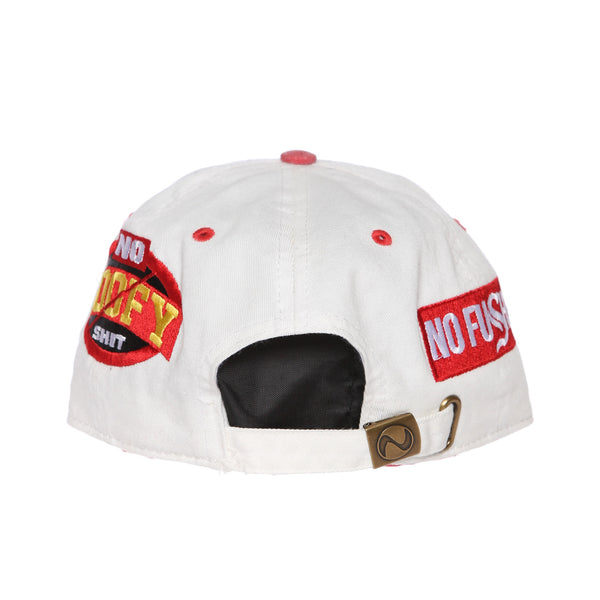 No Goofy No Fu Dad Hat (Natural/Red)