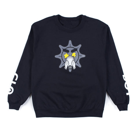 Grey Glo Cup Crewneck (Black)
